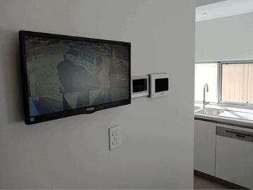 Smart Wiring of Wall Mounted moniter